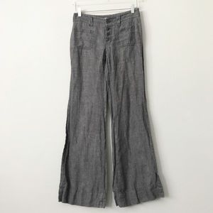 CAbi 100% Linen Sailor Pants in Sz 2
